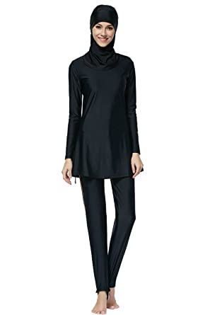 90fd655f6caa9 Amazon.com  Ababalaya Womens  Islamic Swimming Hijab Swimwear  Clothing