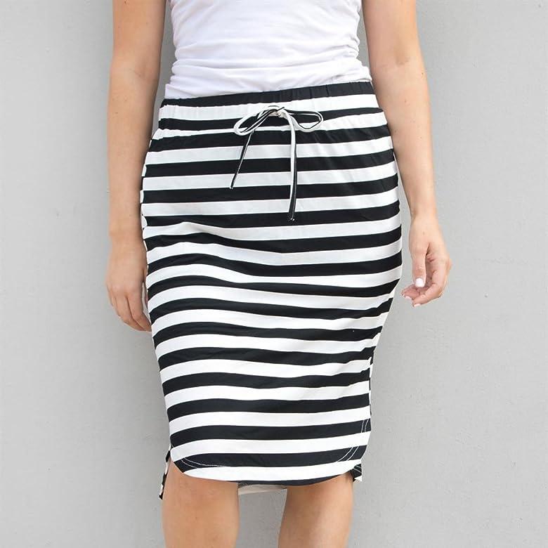 Las Rebajas Faldas Bodycon Mujeres, Faldas de Rayas Blancas y ...