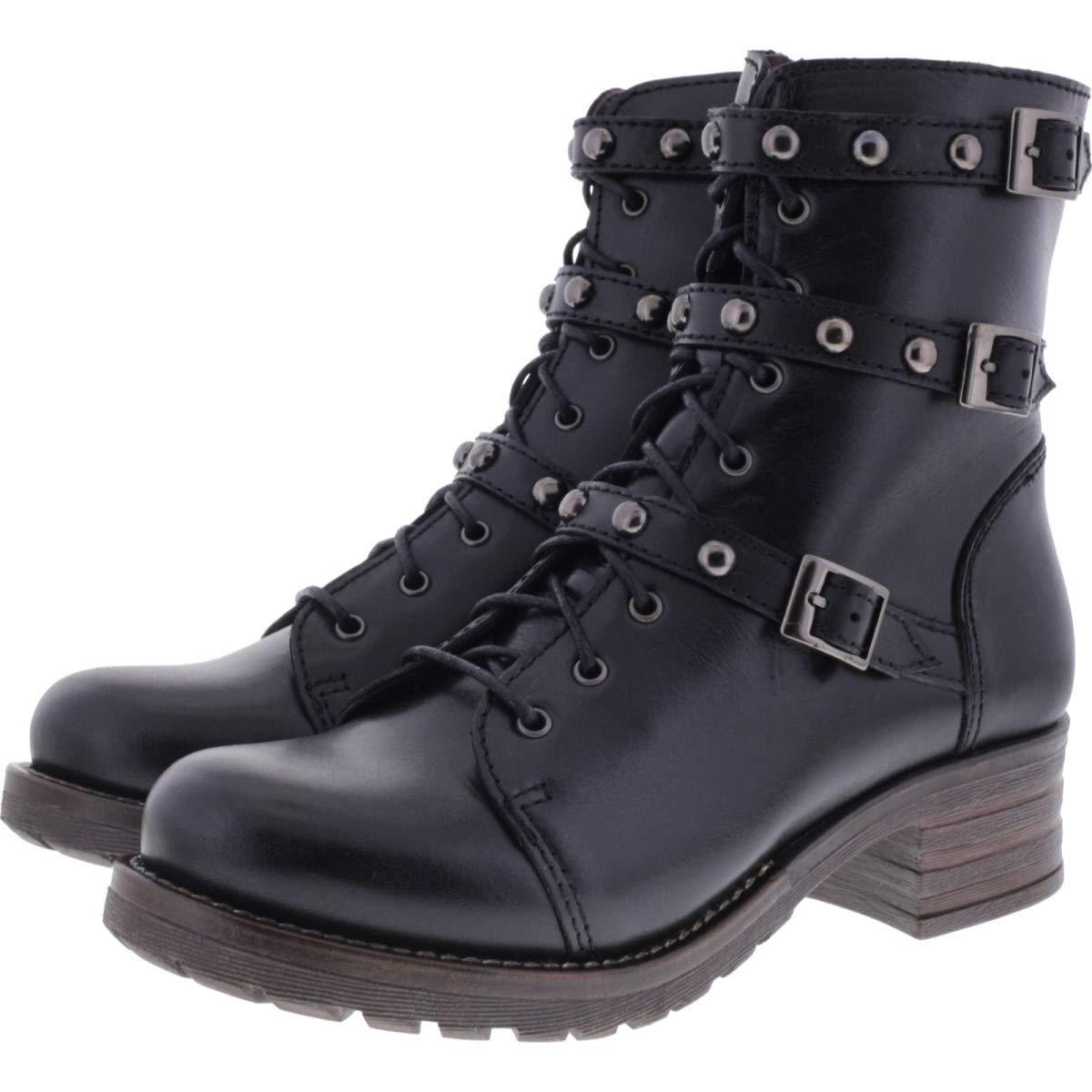 Brako   Modell  Military Pull schwarz Schwarz Leder Stiefel   Art  8463   Damen Stiefeletten