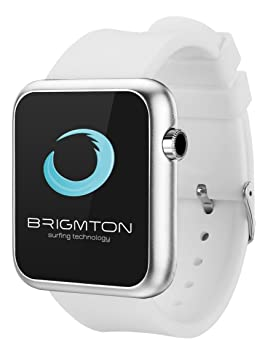 "Brigmton BWATCH-BT3B 1.44"" Plata Reloj Inteligente - Relojes Inteligentes (3,66"