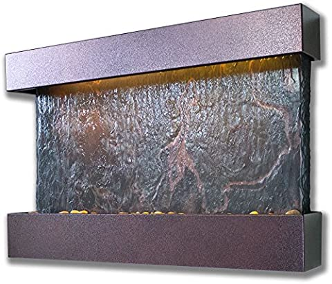 Water Wonders Medium Horizon Falls with Copper Vein Trim - Stone Copper Fountain