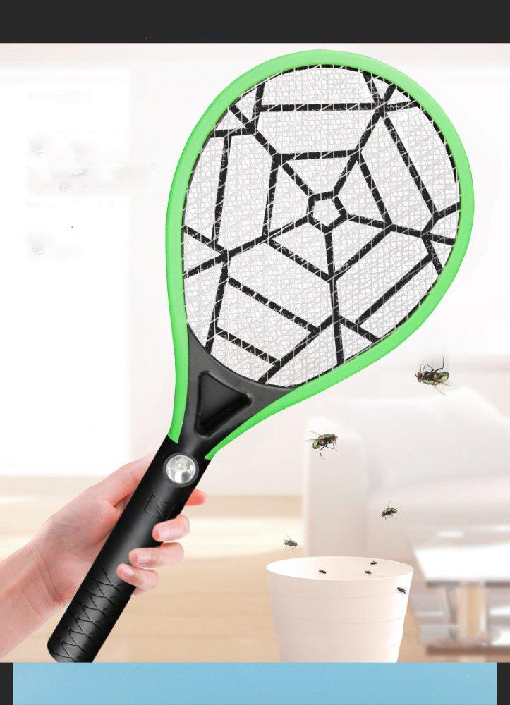 SLR Multi-Función mosquitera Eléctrica Recargable de Tres Capas de Malla Membrana mosquitera Luces LED Swatter,Verde,Un Tamaño: Amazon.es: Deportes y aire ...