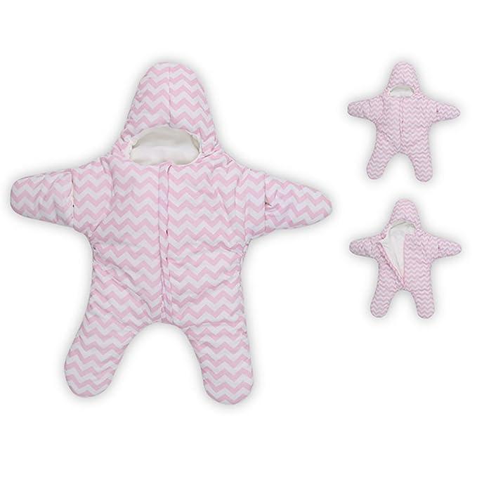 Finerolls Bebés Algodón Estrellas de Mar Saco de dormir Súper Blando Recién Nacido Otoño Invierno cochecitos cama Manta - Adecuado para bebé sobre 0-12M: ...