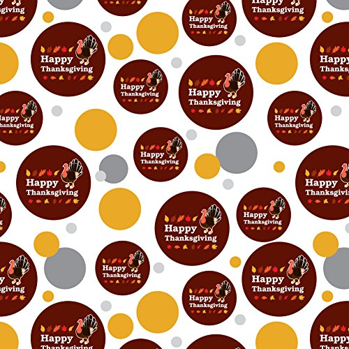 - GRAPHICS & MORE Happy Thanksgiving Turkey Premium Gift Wrap Wrapping Paper Roll