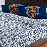Chicago Bears Full Sheet Set Anthem Bed Sheets