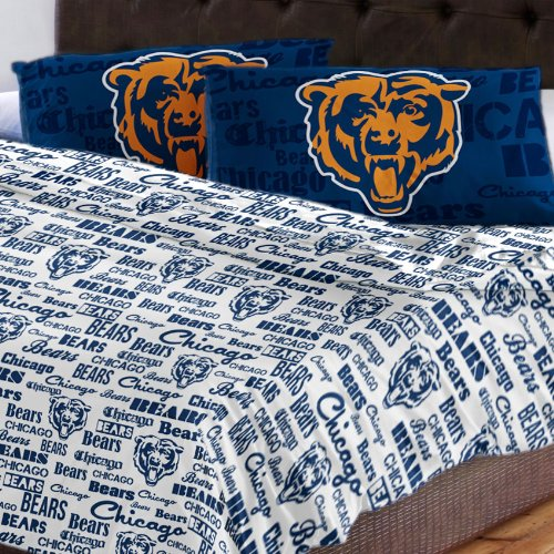 Chicago Bears Full Sheet Set (Chicago Bears Full Sheet Set Anthem Bed Sheets)
