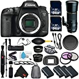 6Ave Canon EOS 7D Mark II DSLR Camera International version (No Warranty) + Tamron 200-500mm f/5-6.3 SP AF Di LD (IF) Lens for Canon EOS + Battery Grip + Wildlife and Sports Photography Bundle