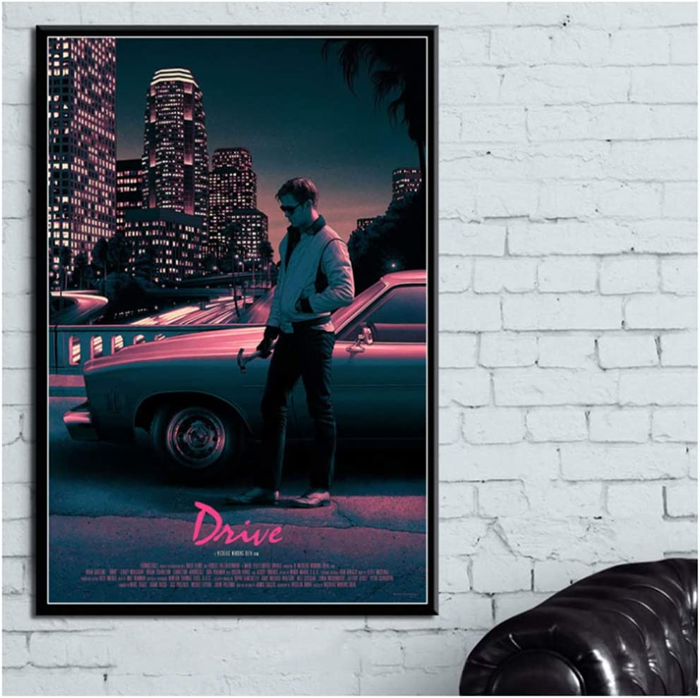 50x70cm Sin marco Drive Classic Movie Ryan Gosling Movie Poster Impresi/ón en lienzo e impresiones Pintura Arte Im/ágenes de pared para sala de estar Decoraci/ón del hogar
