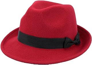 Black Temptation Cappello Fedora Rosso Morbido Classico Cappellino