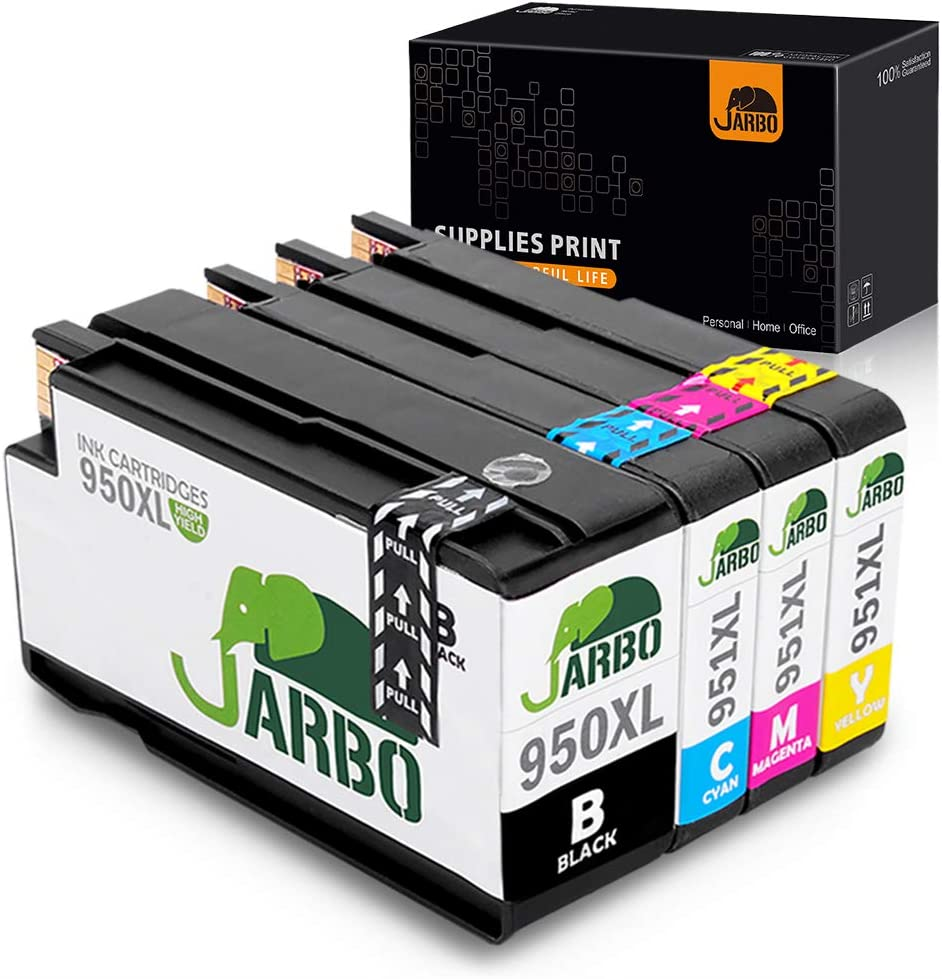 JARBO Compatible Ink Cartridges Replacement for HP 950XL 951XL High Yield, 1 Set, Compatible with HP Officejet PRO 8600 8610 8620 8630 8100 8640 8660 8615 8625 251dw 271dw 276dw Printer