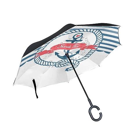 48565770bba41 Amazon.com : IMOBABY Blue White Nautical Emblem with Anchor Print ...