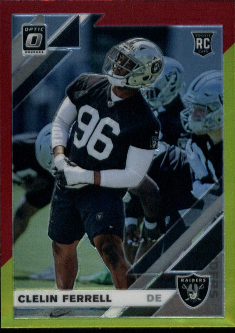 Amazon Com Clelin Ferrell 2019 Donruss Optic Red And Yellow 104 Rc Nm Mt Raiders Football Nfl Collectibles Fine Art