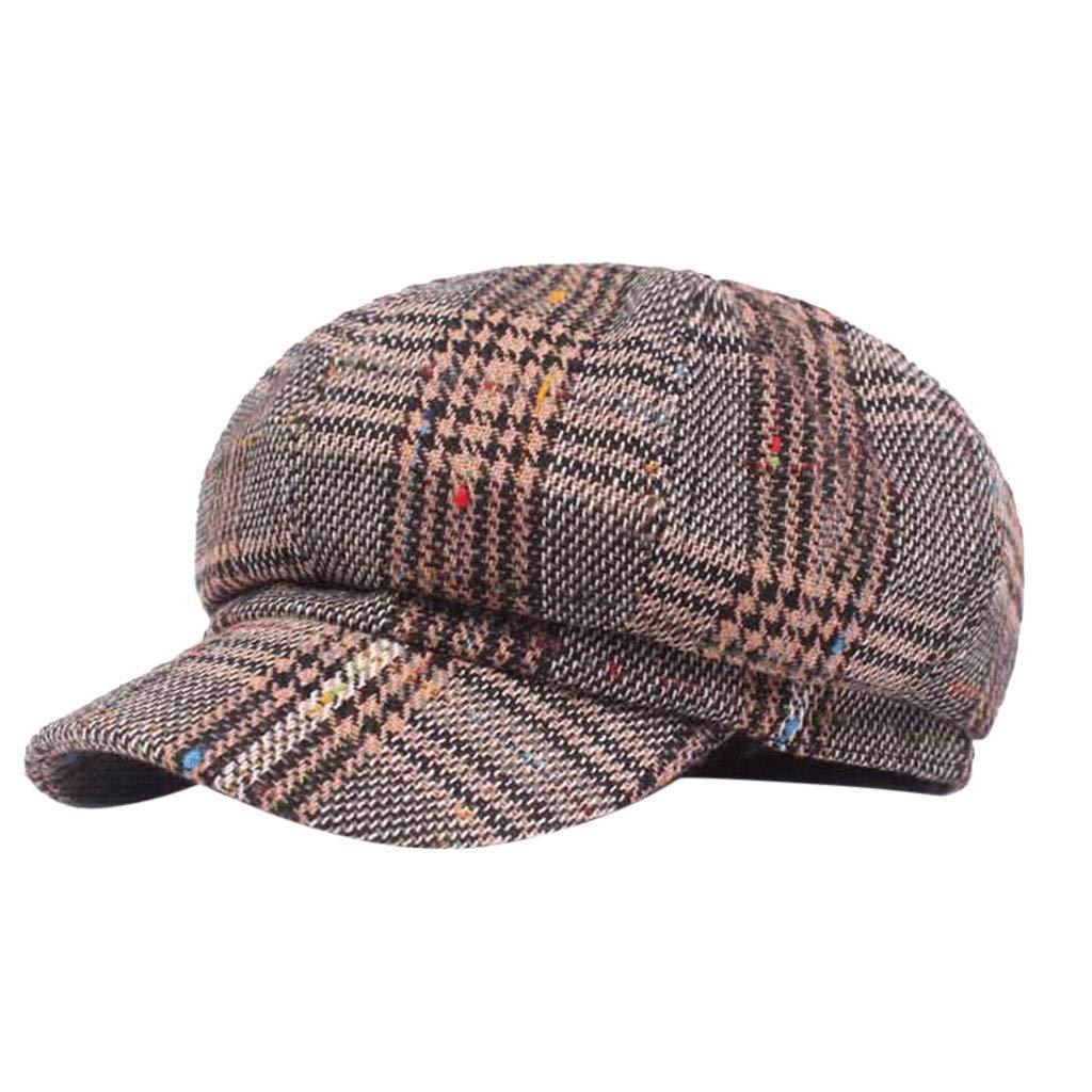 FEDULK Unisex Newsboy Gatsby Classic Retro Cap Golf Cabbie Driving Women Men Beret Hat(D, One Size)