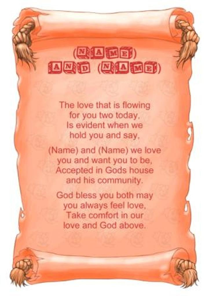 Personalised poem baby twins christening gift print amazon personalised poem baby twins christening gift print amazon kitchen home negle Images