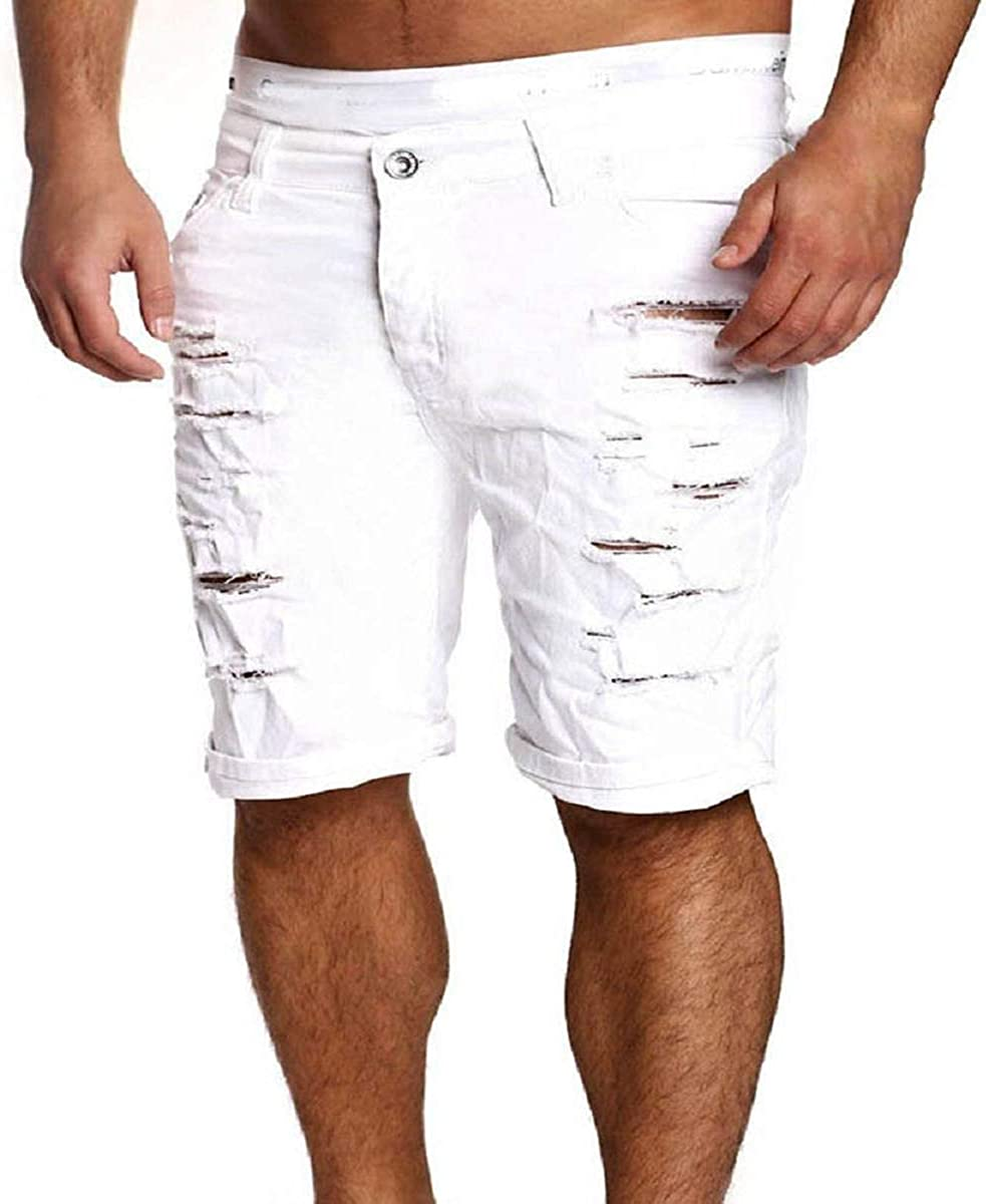 bullet genius wrist  Lihgfw Men's Short Boy Skinny Straight Short Denim Pants Destroyed Ripped  Jeans Shorts Plus Size,White,M: Amazon.co.uk: Clothing
