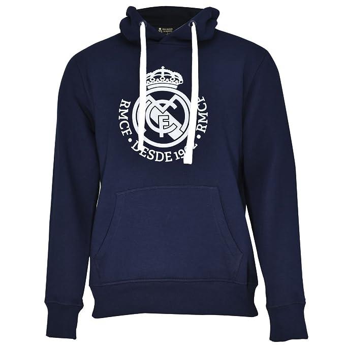 Real Madrid Sudadera Cap-Hoodie Nº 3 Marino-Blanco T-L: Amazon.es: Ropa y accesorios
