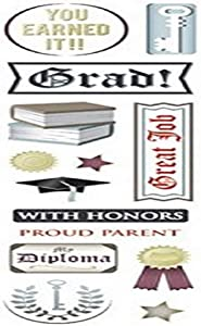 KAREN FOSTER 10192 Design Scrapbooking Clearly Stickers, with Honors, 12 x 12