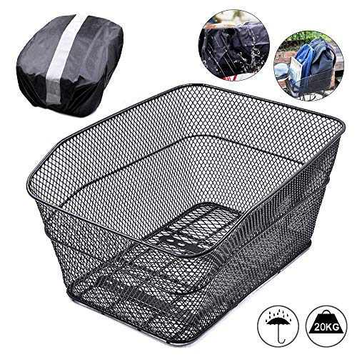 Discover Bargain ANZOME Rear Bike Basket - Metal Wire Bicycle Cargo Rack Mount for Back Under Seat w...