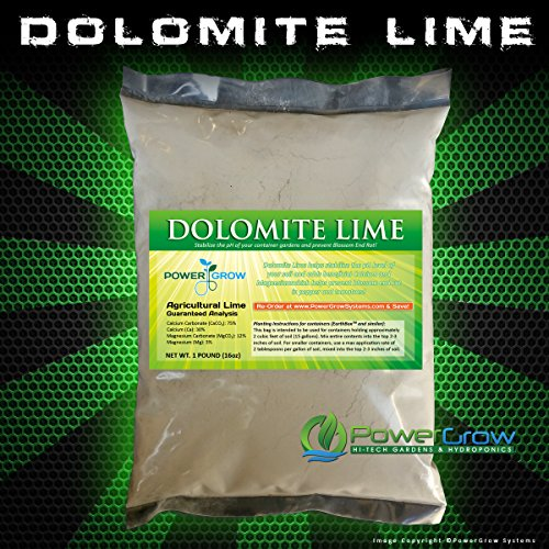 Dolomite Lime - Pure Dolomitic/Calcitic Garden Lime (5 Pounds) by PowerGrow Systems