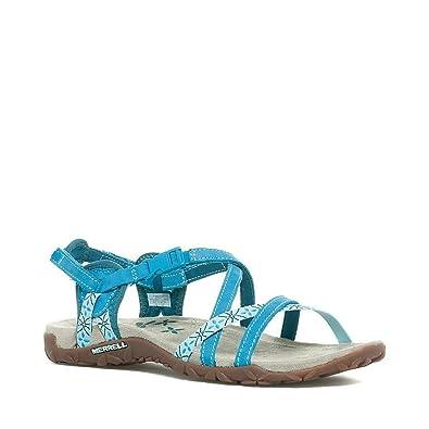 1986d5e36f1d Merrell Terran Lattice Women s Walking Sandals - SS15-7 Blue  Amazon ...
