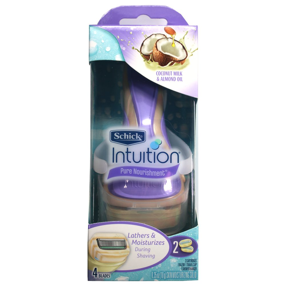 Schick Intuition Pure Nourishment with Coconut Milk and Almond Oil Razor + 1 Extra Cartridge