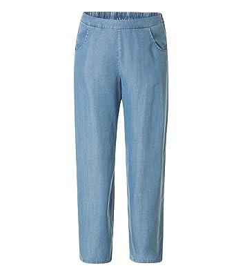 X-Two Bequeme Yesta Stretch Damen Schlupf Hose Große Größen Jeans-Blau  Gummibund  Amazon.de  Bekleidung 499ca2009e