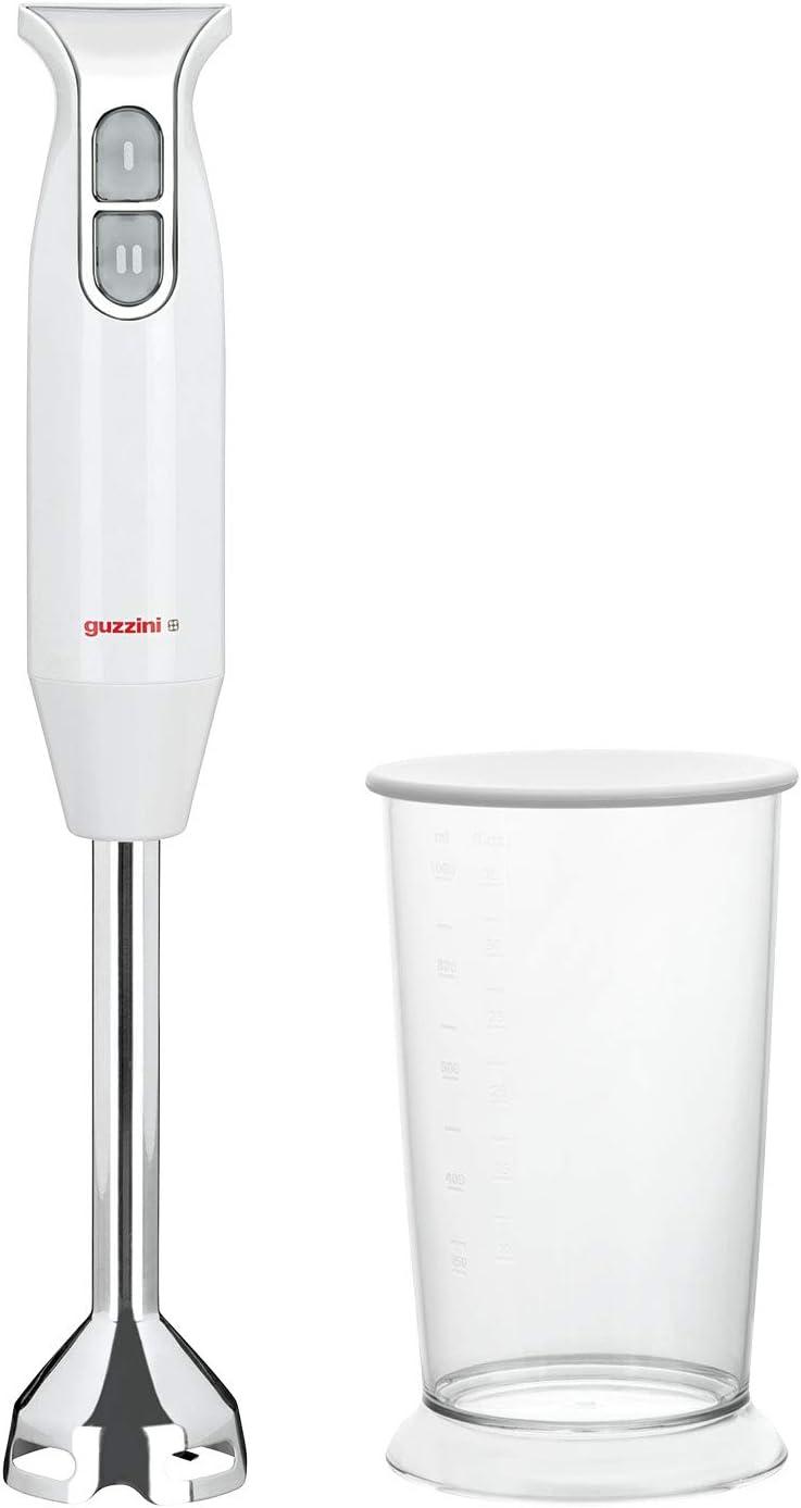 Guzzini Kitchen Active Design - Batidora de inmersión, 6,7 x 37 cm, color blanco