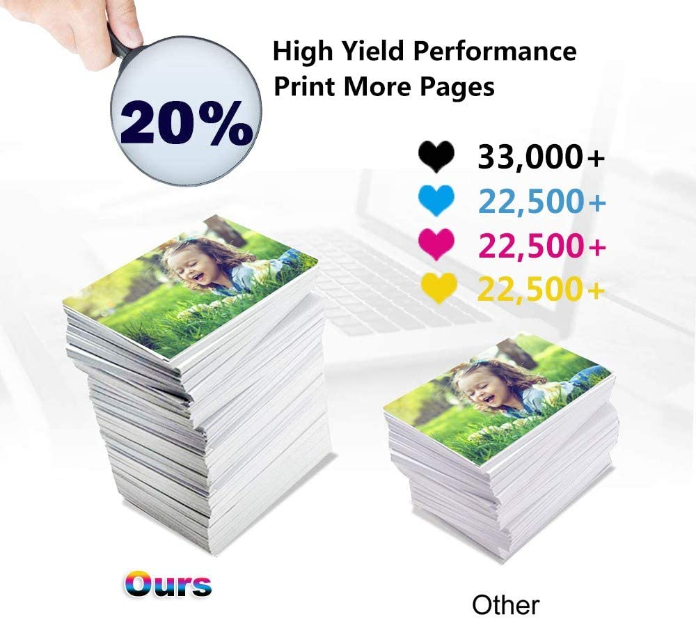 High Capacity MP C6003 Printer Toner Cartridge 3-Pack Compatible SP MP C4503 MP C5503 C+Y+M Replacement for Ricoh 841852 841850 841851 Color Toner Cartridge