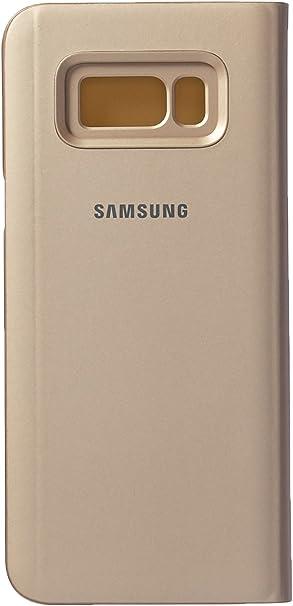 Samsung Clear View Standing, Funda para smartphone Samsung Galaxy S8 Plus, Oro: Amazon.es: Electrónica