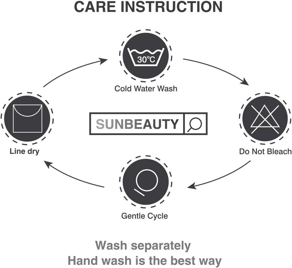 Sunbeauty Guantes de Horno Guantes de Cocina de Silicona Antideslizantes Resistentes al Calor Doble para Cocinar Parrilla Barbacoa Azul