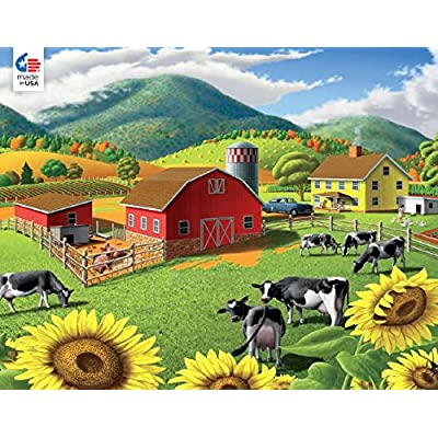 Walt Curlee - Sunflowers Puzzle - 550 Pieces: Toys & Games