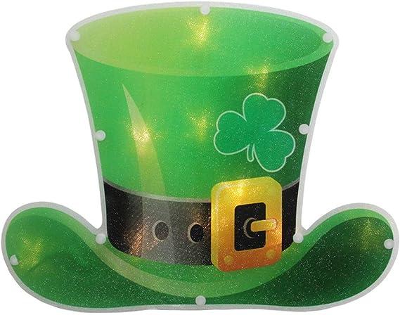 Sienna 10 green lighted Derby hats 7.5 ft lighted length  St Patricks Day NIB