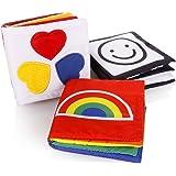 Cisixin Value Pack Petite Bébé Cloth Kid doux livre en tissu, Bébé Early Education & Développement Toy