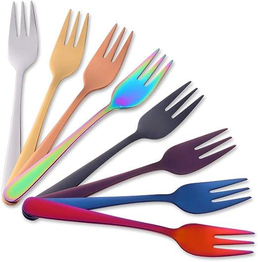 Fruit Fork Portable Couverts Fourchette Dîner fourchettes dessert Fourchette en Acier Inoxydable