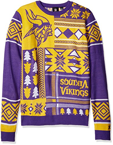 NFL Minnesota Vikings Patches Ugly Sweater