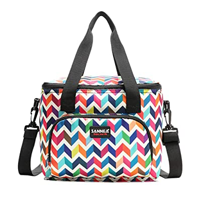 Tronet Picnic Bag Insulated Cooler Lunch Bag Camping Picnic Box Shoulder Thermal Double Layer 10L: Sports & Outdoors