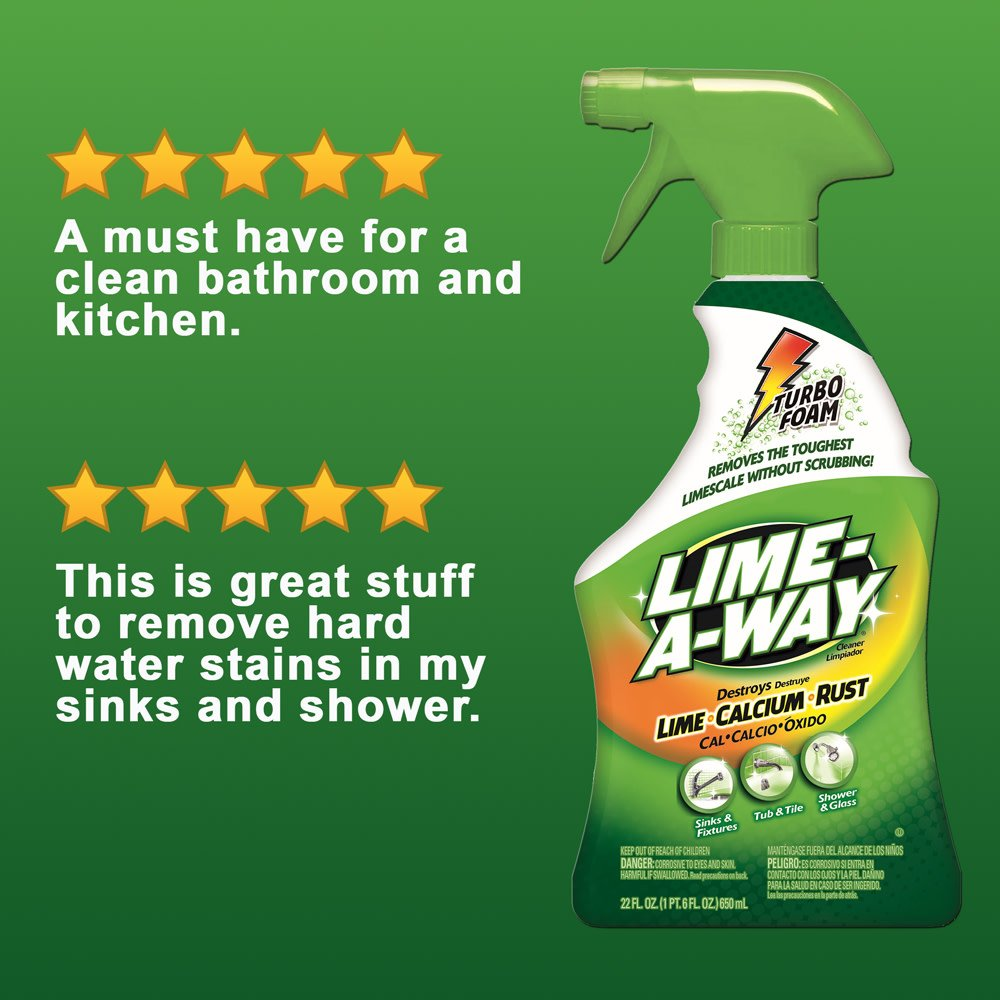 Lime-A-Way Bathroom Cleaner, 132 fl oz (6 Bottles x 22 oz), Removes Lime Calcium Rust by Lime-A-Way (Image #10)