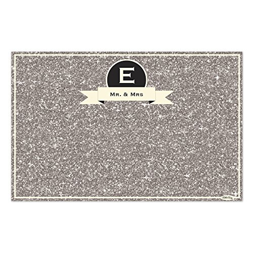 Personalized Paper Placemats - Silver Sparkles Personalized Paper Placemats