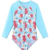 BAOHULU - Traje de baño de una pieza de manga larga con protección contra rayos UV 50 + camisa de natación para niños con cierre