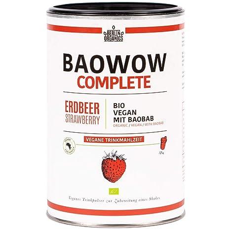 Berlin Organics baowow Complete Fresa sabor – 10 Deliciosos bio de comidas como tipos – veganas