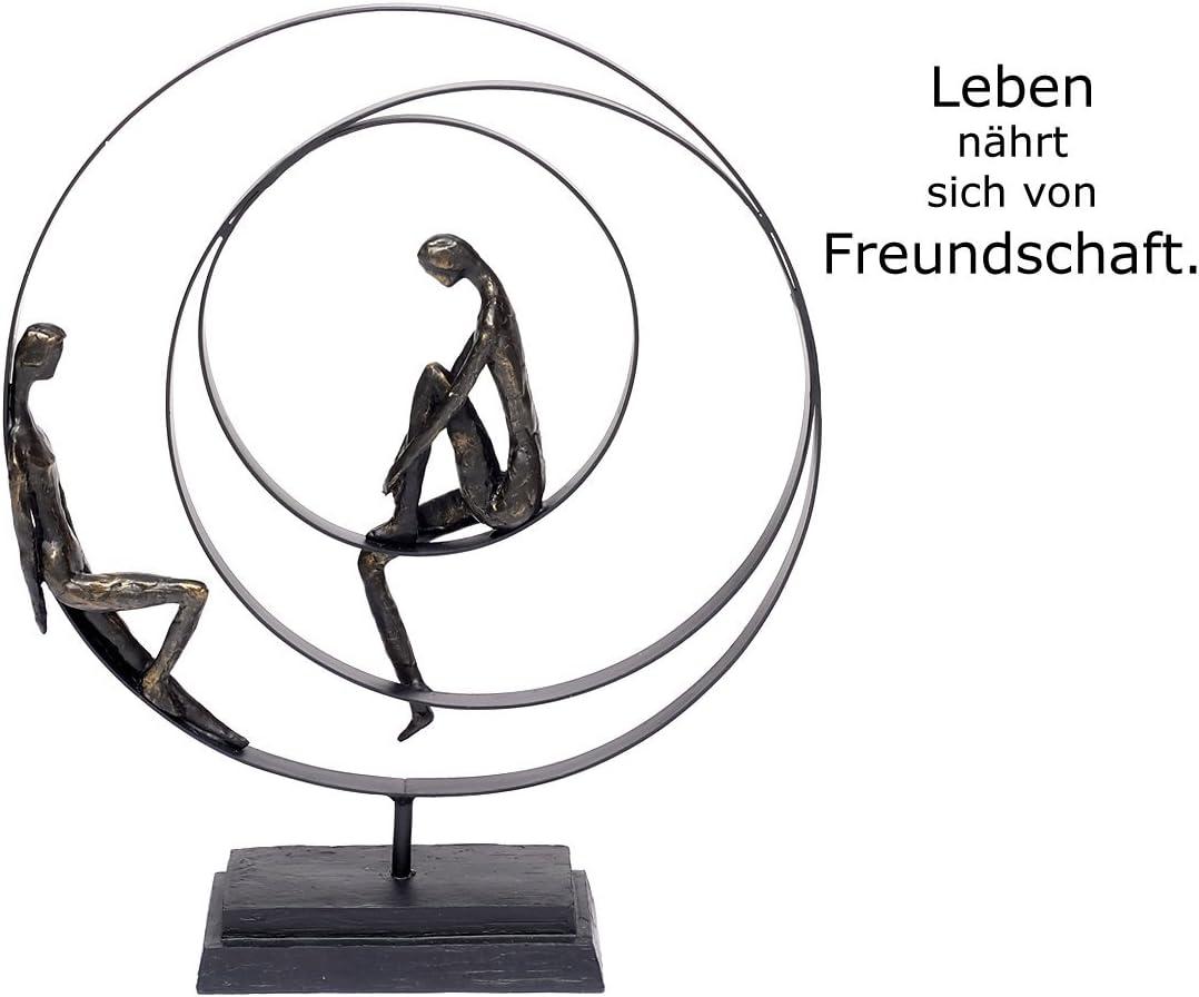 Brillibrum Design Skulptur Freundschaft Polystone Deko-Figur Zusammenhalt Metall Partnerschaft Liebespaar Figur Dekoration Wohnung modern
