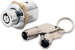 FJM Security 2610B-KA Tubular Push Lock with Chrome Finish, Keyed Alike