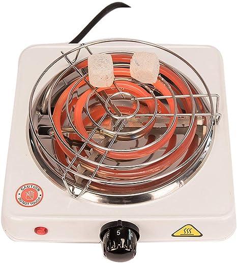 Kertou Cocina Eléctrica para Shisha CACHIMBA Carbón HORNILLO 600W Hot Plate Electric Cooking (Negro): Amazon.es: Deportes y aire libre