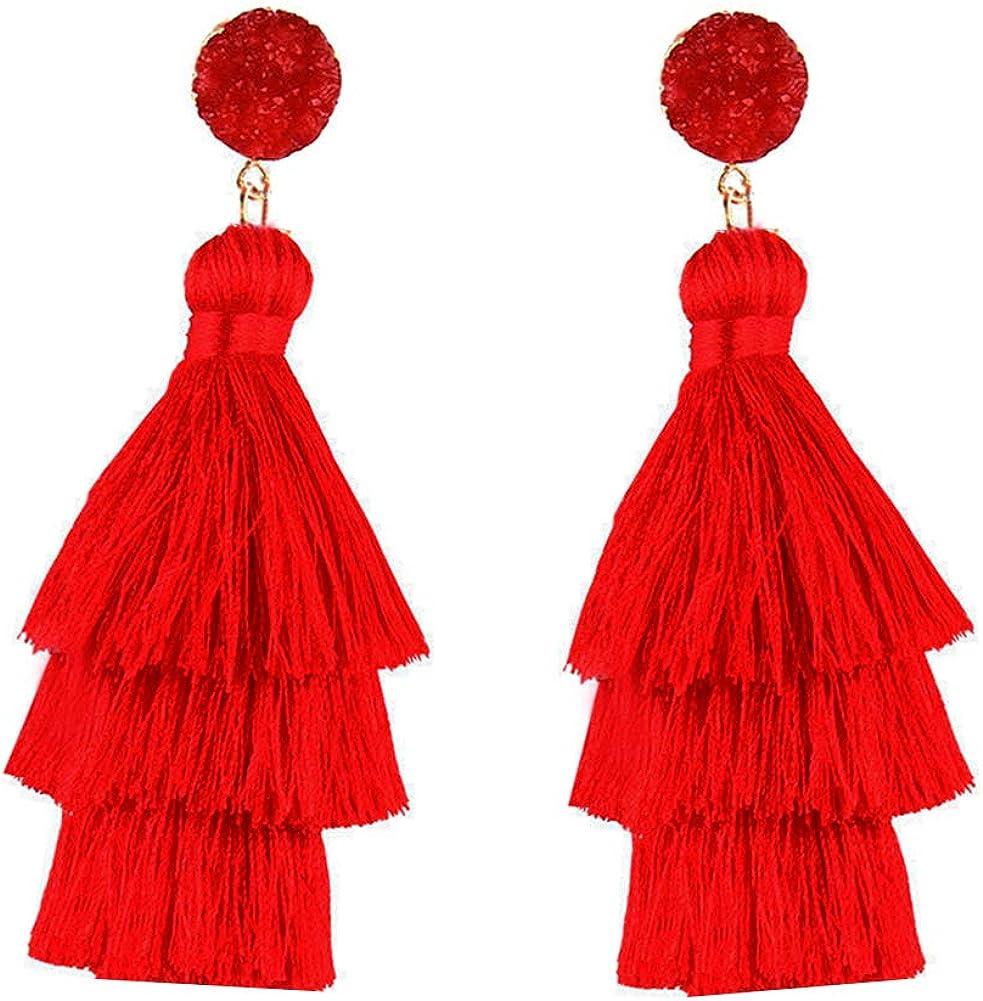Elegant Korean Style Women Blue Drop Dangle Earrings Ear Studs Fashion Jewelry