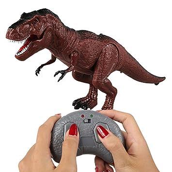 Kinder Elektro Dinosaurier Spielzeug Walking Tyrannosaurus mit Licht /& Sound NEU
