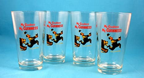 """Details about  /GUINNESS Draught /""""My Goodness My Guinness/"""" Pint Pilsner Glass"""