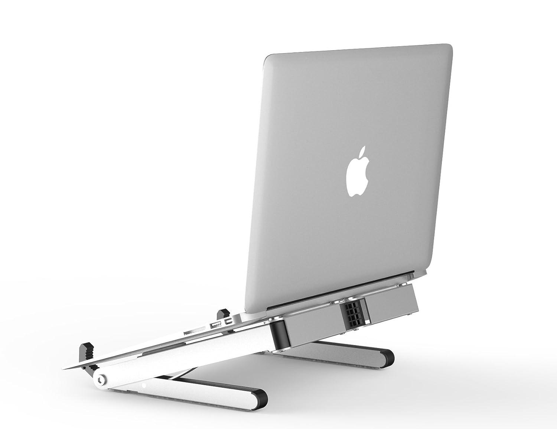 Multi Funzioni Calcolatrice Portatile per Laptop Supporto per Laptop per iPad Pieghevole per Portatile Scrivania Regolabile per Computer Portatile da Tavolo Supporto Pieghevole Ergonomico,Gold