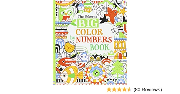 big color by numbers book fiona watt 9780794516062 amazoncom books