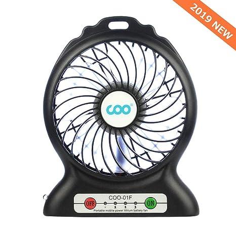 Amazon.com: Ventilador portátil con USB, funciona con pilas ...