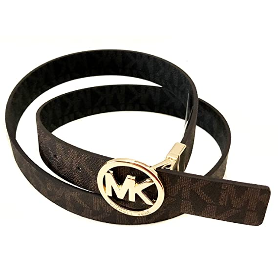 880dcb942 Michael Kors Womens Reversible MK Logo Belt Brown/Black (Large ...